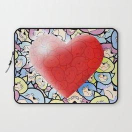 Catty Heart Laptop Sleeve
