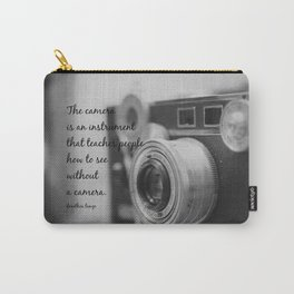 Vintage Camera Quote Carry-All Pouch