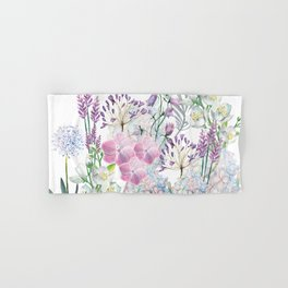 Spring Flowers Bouquet Hand & Bath Towel