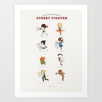 street fighter Art Prints featuring Street Fighter Classic Moves by catplusmouse