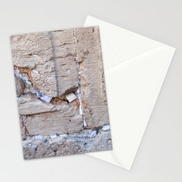 Israeli Jewish Kotel Wall Art Print - A piece of the Wailing Wall (Kotel) with many prayer notes - Fine Art Print - Jewish wall art deco Stationery Cards