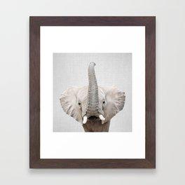 Elephant 2 - Colorful Framed Art Print