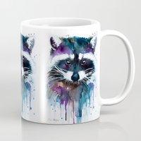 raccoon Mugs featuring Raccoon by Slaveika Aladjova