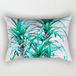 Blue palm trees with triangles Rectangular Pillow