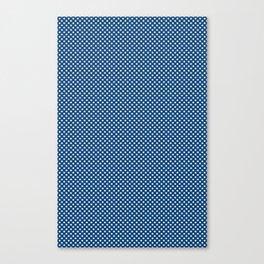 Navy Spotty Pattern Design Canvas Print