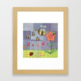 Beeing Busy Framed Art Print
