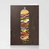 burger Stationery Cards featuring Burger by Duke.Doks
