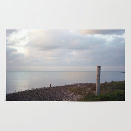 Galveston Bay at dusk Rug