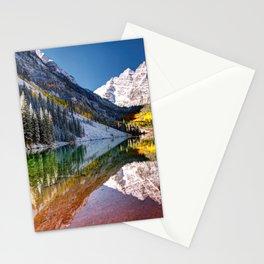 OLena Art Maroon Bells And Maroon Lake Near Aspen Colordo Stationery Cards