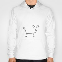 piglet Hoodies featuring pig piglet make a mess by Lineamentum