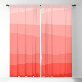 Diagonal Living Coral Gradient Blackout Curtain