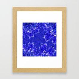 BluFan Filigree Framed Art Print