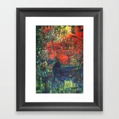 Blue Bird. Framed Art Print