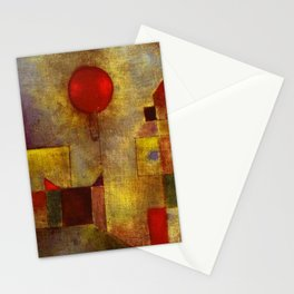 1922 Classical Masterpiece 'Red Balloon' by Paul Klee Stationery Cards