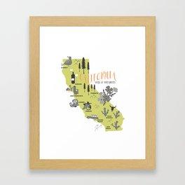 California Map Framed Art Print