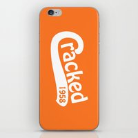 dodgers iPhone & iPod Skins featuring Cracked Retro by The Cracked Dispensary