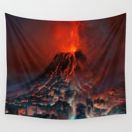City of Fire Wall Tapestry