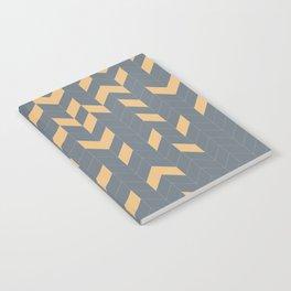 Grey and Mustard Herringbone Notebook
