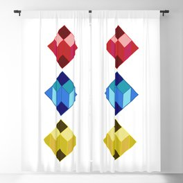 dear white cube, Primary colors Blackout Curtain
