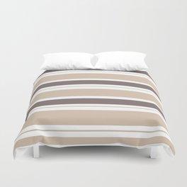 Caffeinated Tones Horizontal Striped Duvet Cover