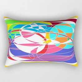 Hertzians Waves of colors Rectangular Pillow