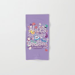 Alice's Adventures in Wonderland - Lewis Carroll Hand & Bath Towel