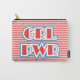 GRL PWR, Girl Power (red version) Carry-All Pouch