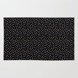 Do-Nut Confetti Sprinkles Black Rug