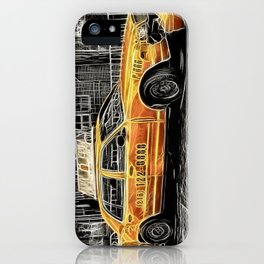 Yellow Taxi Cab iPhone Case