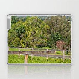 Broken fence in a rural area Laptop & iPad Skin