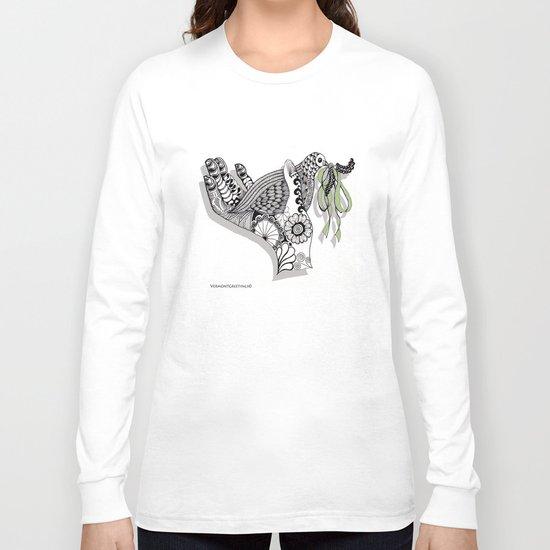 Zentangle Illustration - Peace Dove  Long Sleeve T-shirt