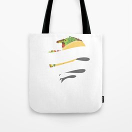 Cute & Funny Peace Love Tacos for Taco Lovers Tote Bag