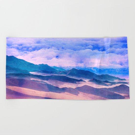 Blue Mountains Land Beach Towel