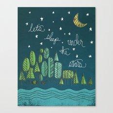 ...under the stars Canvas Print