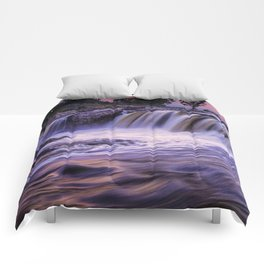 Sunset Waterfalls in Sioux Falls Comforters