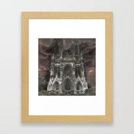 Cathedral Storm Framed Art Print