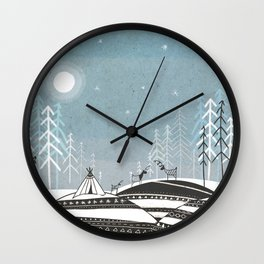 Sami Night Wall Clock