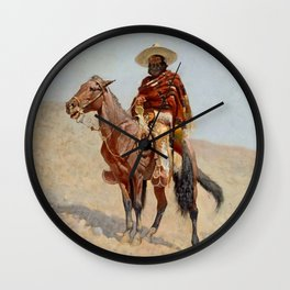 """Mexican Vaquero Horseman"" by Frederick Remington Wall Clock"