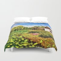 chinese Duvet Covers featuring Chinese Gardens by Photos By Healy