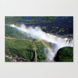Rainbow Over Victoria Falls Canvas Print