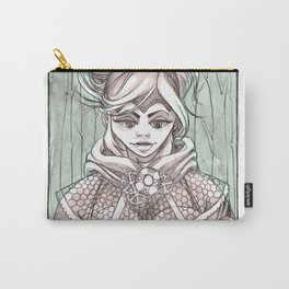 Skull in the Woods Carry-All Pouch