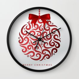 Decorative Christmas Ornament Pattern Wall Clock