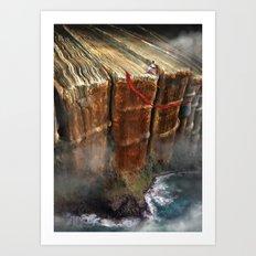 Cliffhanger Art Print