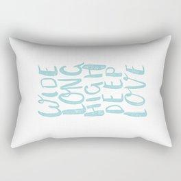 LOVE inifinite - BLUE Rectangular Pillow