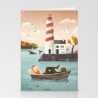 lighthouse Stationery Cards featuring Lighthouse by Seaside Spirit