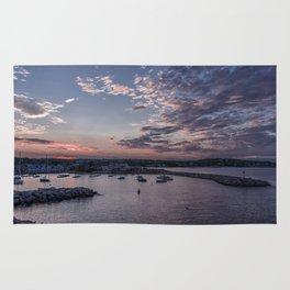 Sunset over Rockport Harbor Rug