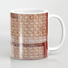 Tableau Periodiques Periodic Table Of The Elements Vintage Chart Sepia Coffee Mug