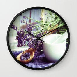 Lavender Time Wall Clock