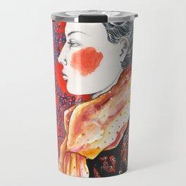 Red Face Travel Mug