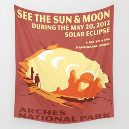Vintage poster - Arches National Park Wall Tapestry